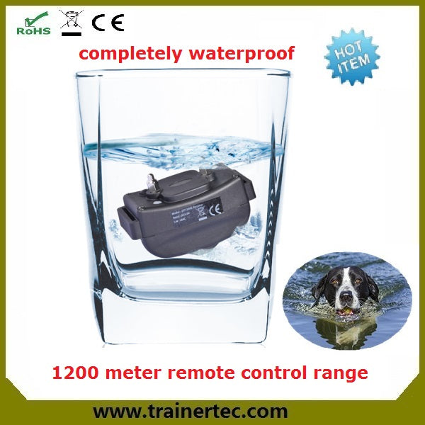 Big LCD display 1200M electronic rechargeable and waterproof remote dog training collar