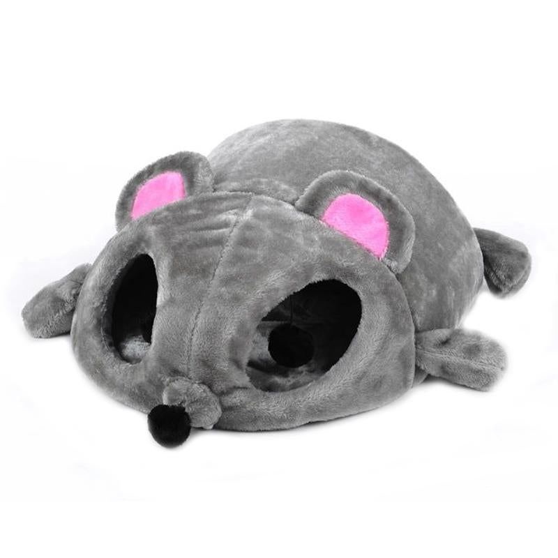 Cartoon Mouse Design Cat Bed House Soft Warm Cat Cave Beds