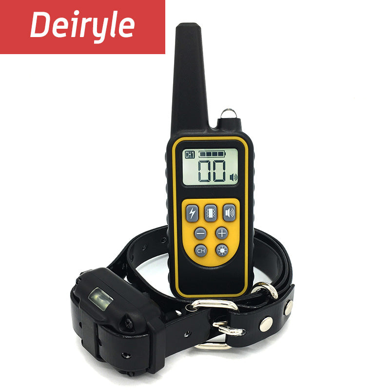 DEIRYLE 800m Remote Dog Training Collar Waterproof,Electric Shock Collar Dog Training With Vibration/Shock/ Tone