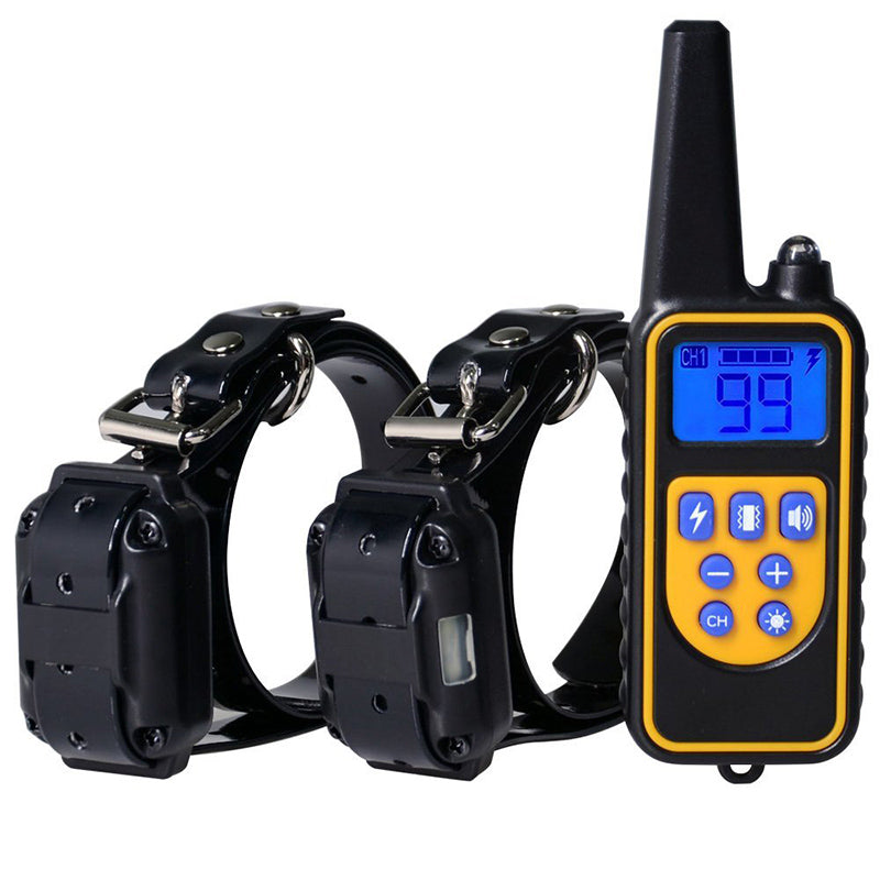 DEIRYLE 800m Remote Dog Training Collar Waterproof,Electric Shock Collar Dog Training With Vibration/Shock/ Tone  For 1/2/3 Dog