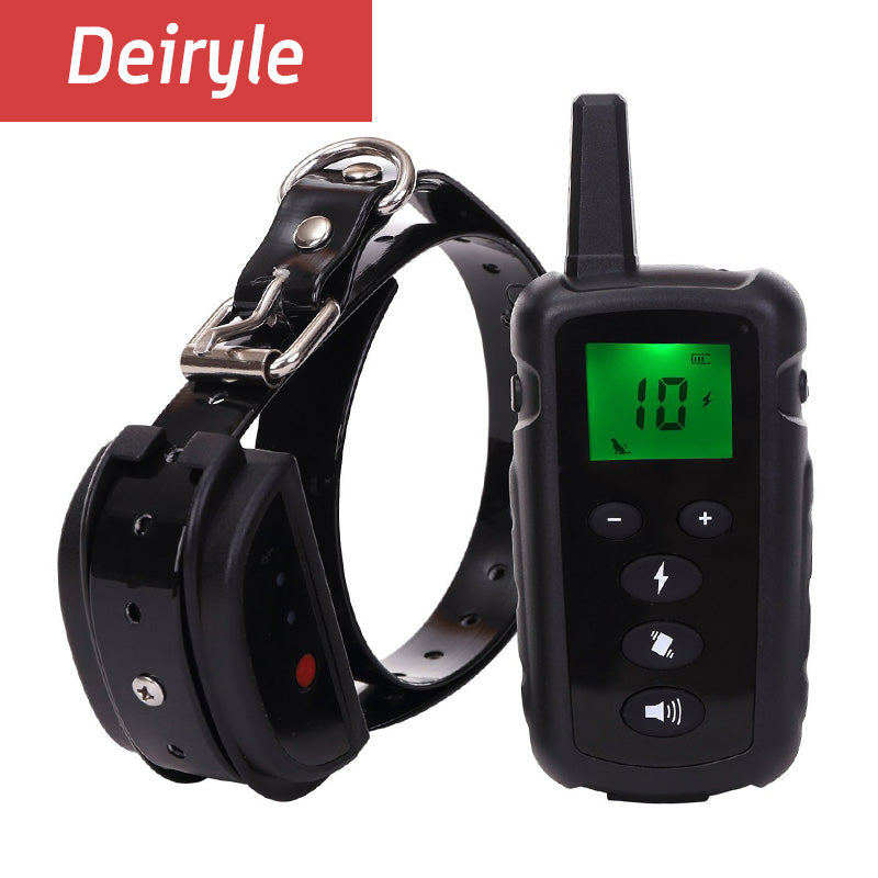 DEIRYLE No Bark Dog Training Collar Vibration Dog Shock Collar,500m Remote Trainers for Dogs
