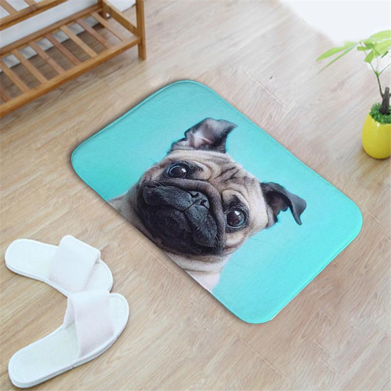 DOG Hand-drawn Illustrations Home Mats  Slip-resistant 40x60CM  Bedroom Floor Mat/Doormat Carpet For Kitchen