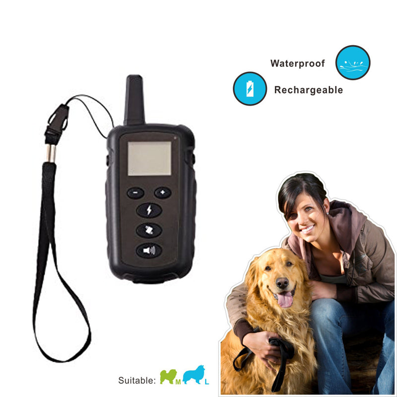 Deep Waterproof Luminous Screen Remote Control Pet  Dog Training Device Dog Training Collar