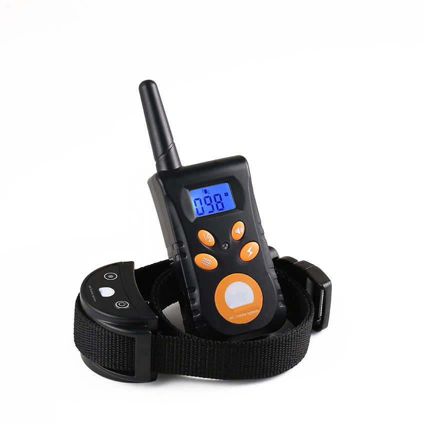 Diving Swimming Waterproof Rechargeable Blueback Shock Vibra Dog Collar 500 Meters Remote Control Dog Training Collar