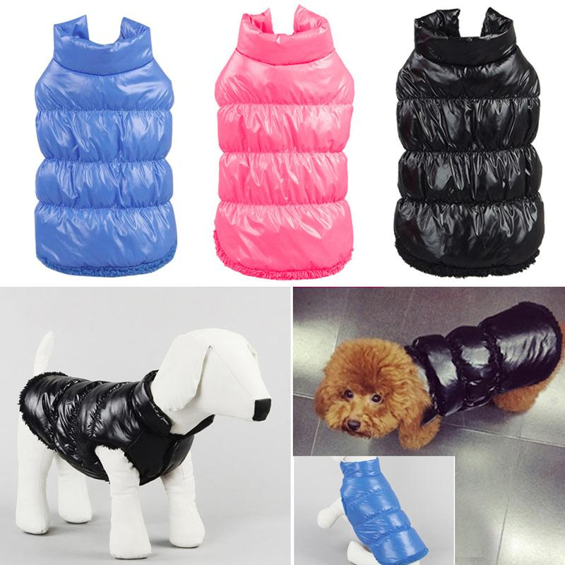 Dog Coat Pets  Down Cloth Jacket Vest Pet Puppy Clothes Winter Apparel Puppy Costume Dogs Clothes  Supplies E5M1