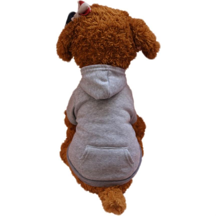 Dog Coats Autumn Winter Sweater Hooded Jacket   Dog Clothes For Small Dogs  Cotton Blend   Pet Clothing  17DEC14
