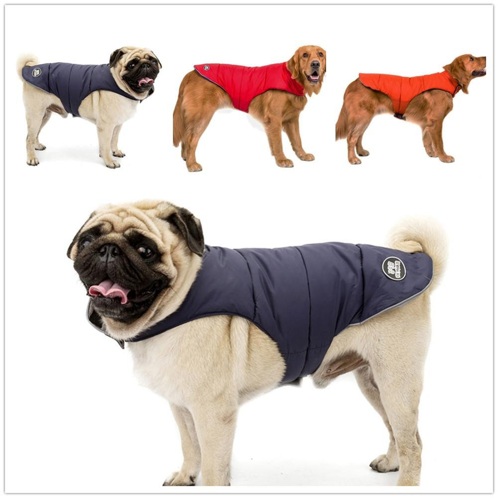 Dog Coats Jacke Waterproof Reflective Winter Dog Coat Outdoor Walking Double-sided To Wear Jacket Dog Supplies S-5XL #TG-CL0611