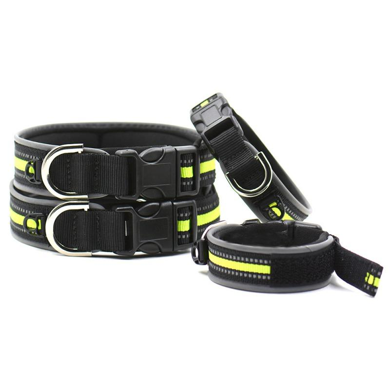 Dog Collar Adjust Reflecting Outdoor Light Reflective Puppy Collar Nylon Pet Cat Supplies Pets Supplies Pets