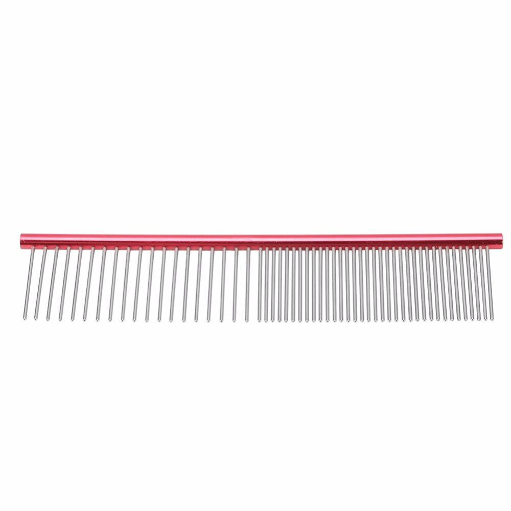 Dog Combs Stainless Steel Lightweight Long Thick Hair Fur Removal Brush Pets Dog Cat Grooming Combs