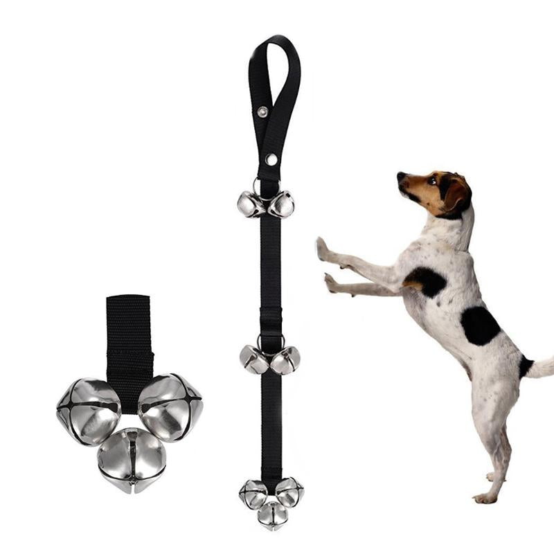 Dog Doorbells For Dog Training And Housebreaking Clicker Door Bell 7 Count Black