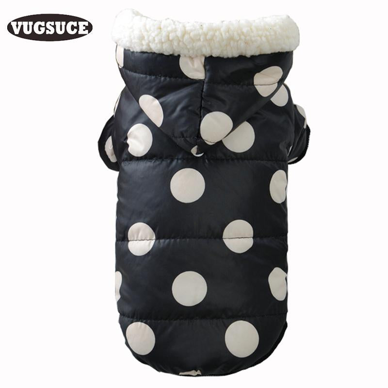 Dog Down Jacket Coat Dot Winter Warm Cat Dog Hoodies Pet Clothes Cotton Costume for Small Medium Dogs Chihuahua Pet Products