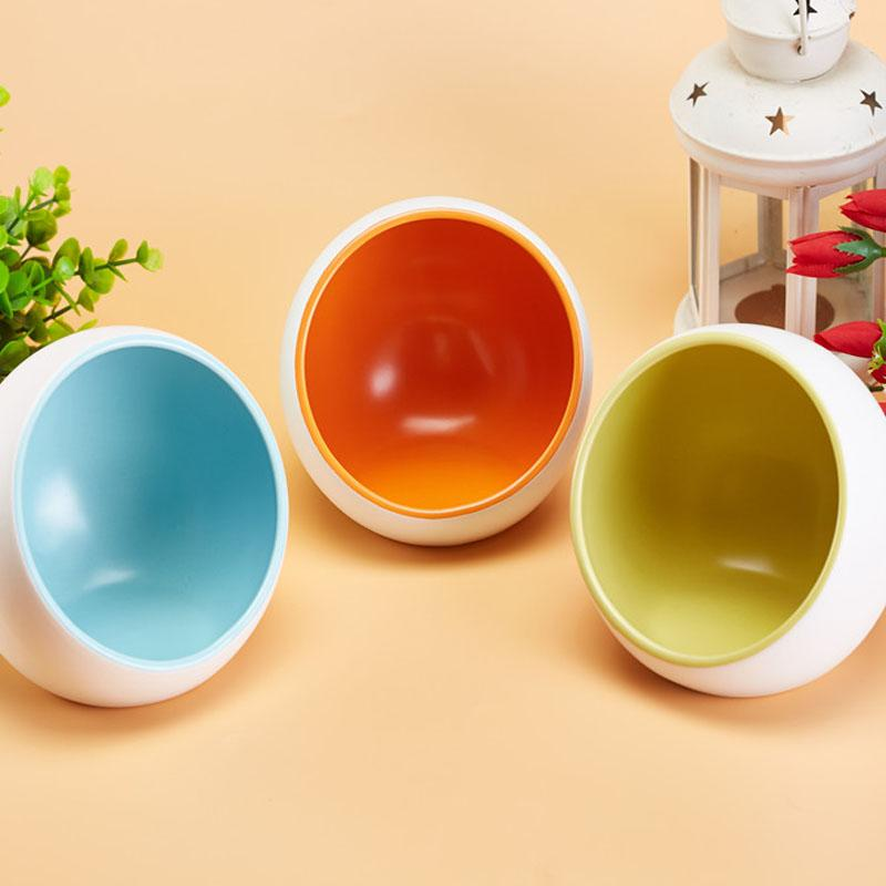 Dog Feeders Ceramics Ramps Pet Dog Bowls Lovely Puppy Cats Food Dishes Candy Color Kitty Dog Food Container 3 Color 1Pcs