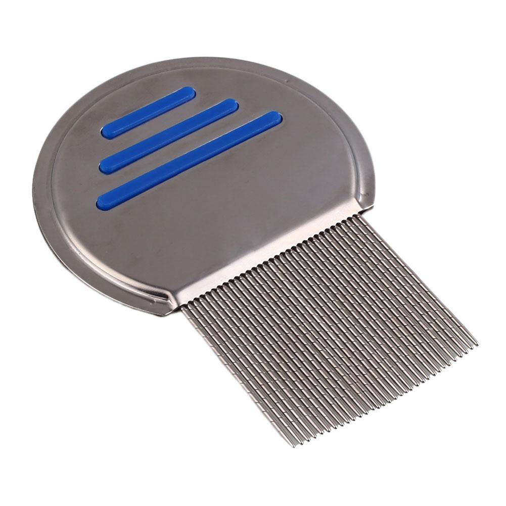 Dog Fine-toothed Stainless Steel Flea Lice Cleanup Comb Grooming Brush Tool