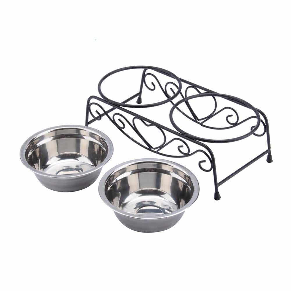 Dog Food Bowl Heat-Resistant Pets dog feeding bowl Pot Stainless Steel Hang Type Dog Bowl Pet Food Or Water Bowl Dish