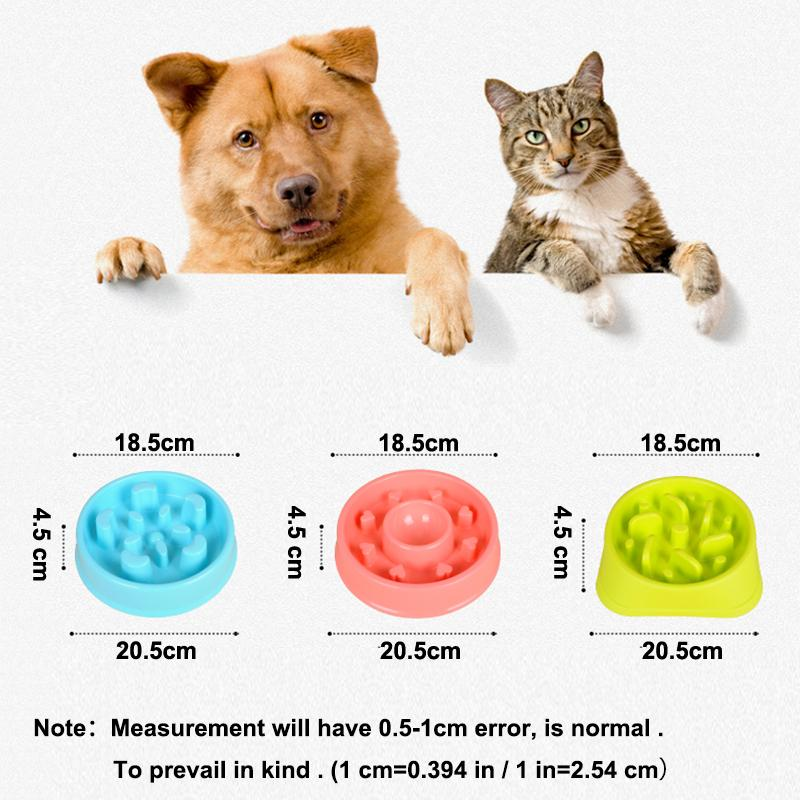 Dog Food Bowl Slow Feed For Dogs Feeder Dish Water Bowl ABS Plastic Health Pet Cat Food Bowl Prevent Obesity Pharyngeal Food
