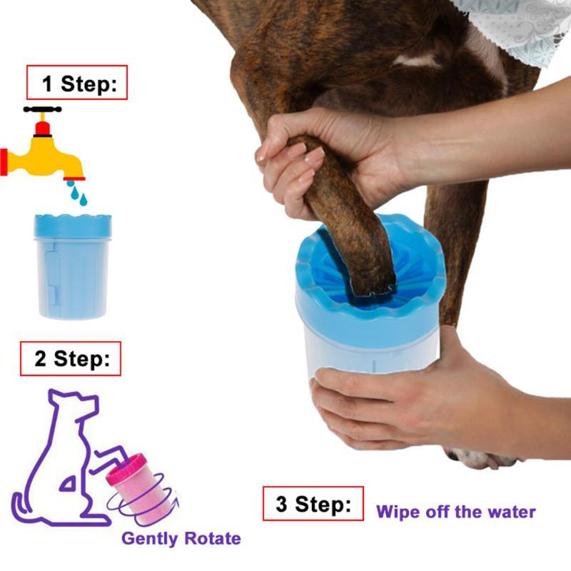 Dog Foot Washer Cup Pet Grooming Wash Tools Soft Gentle Silicone Bristles Pet Brush Quickly Cleaning Paws Muddy Feet
