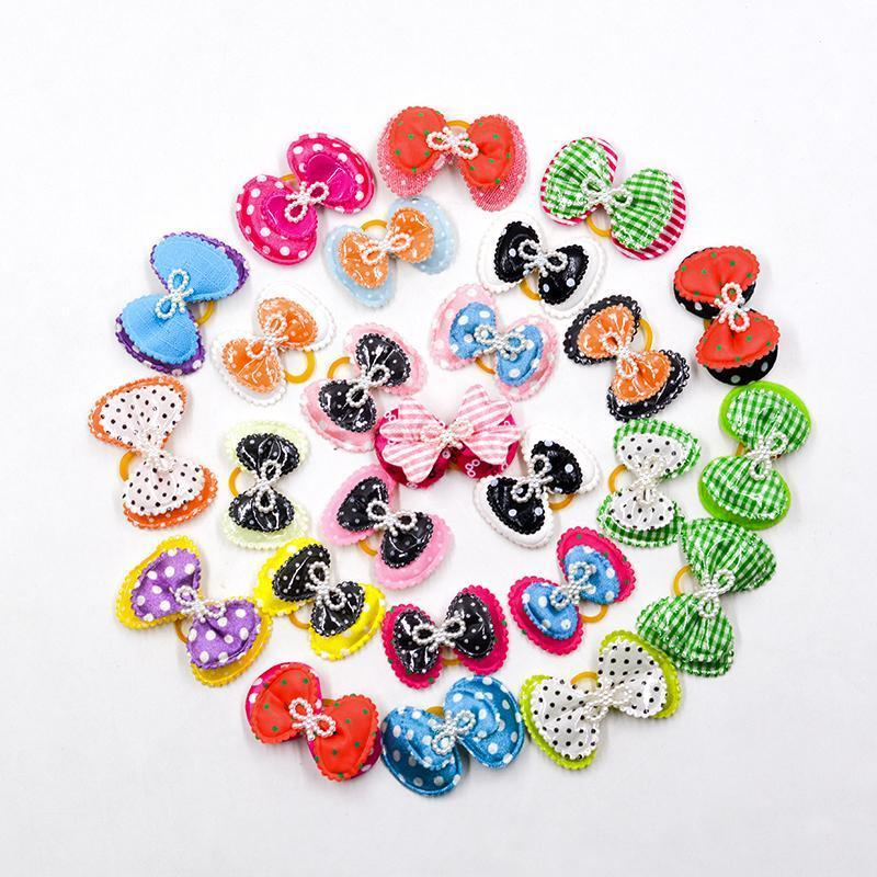 Dog Grooming Bows Ties Dog Hair Accessories Pet Hair Tie Dog Bowknot Supplies Mix Styles Multi Colors
