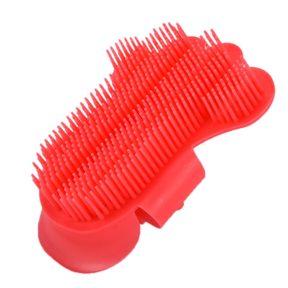 Dog Hair And Fur Remover Cat Bath Wash Grooming Glove Brush Plastic Durable Pet Bath Brush With Soft Rubber For Long Short Pets