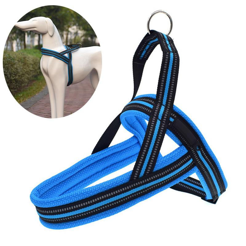 Dog Harness With Traction Belt Collar Reflective Adjustable Small Medium Large Pets Outdoor Chest Strap Dogs Supplies TB