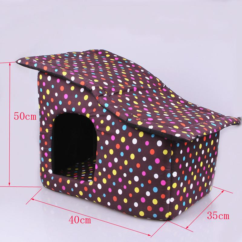 Dog House Folding Dog Bed For Small Meduim Dog House With Mat Pets Product Cats House 2018 New Style