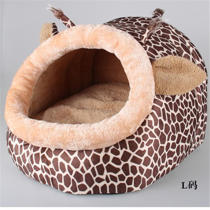 Dog House for small dogs Pet Sleeping Bag Cat kennels Animals Shape with Removable Cushion Warm Soft Sofa