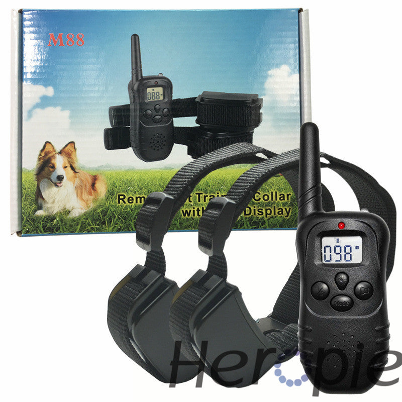 Dog Trainer Remote Pet Dog Training Collar  LCD Electric Shock vibration Rechargeable for two dogs