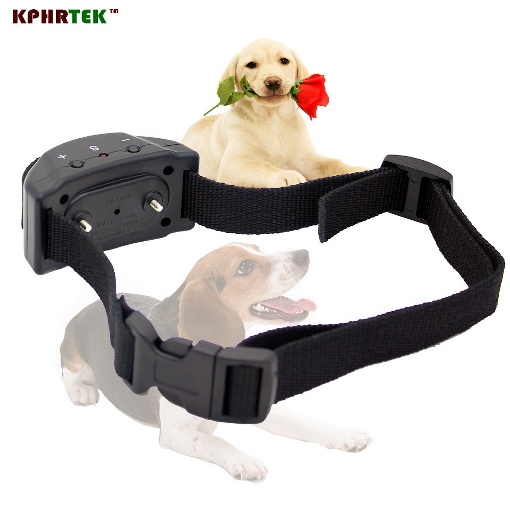 Dog Training Control Electric Shock Anti Bark Collar Stop Barking Pet Trainer