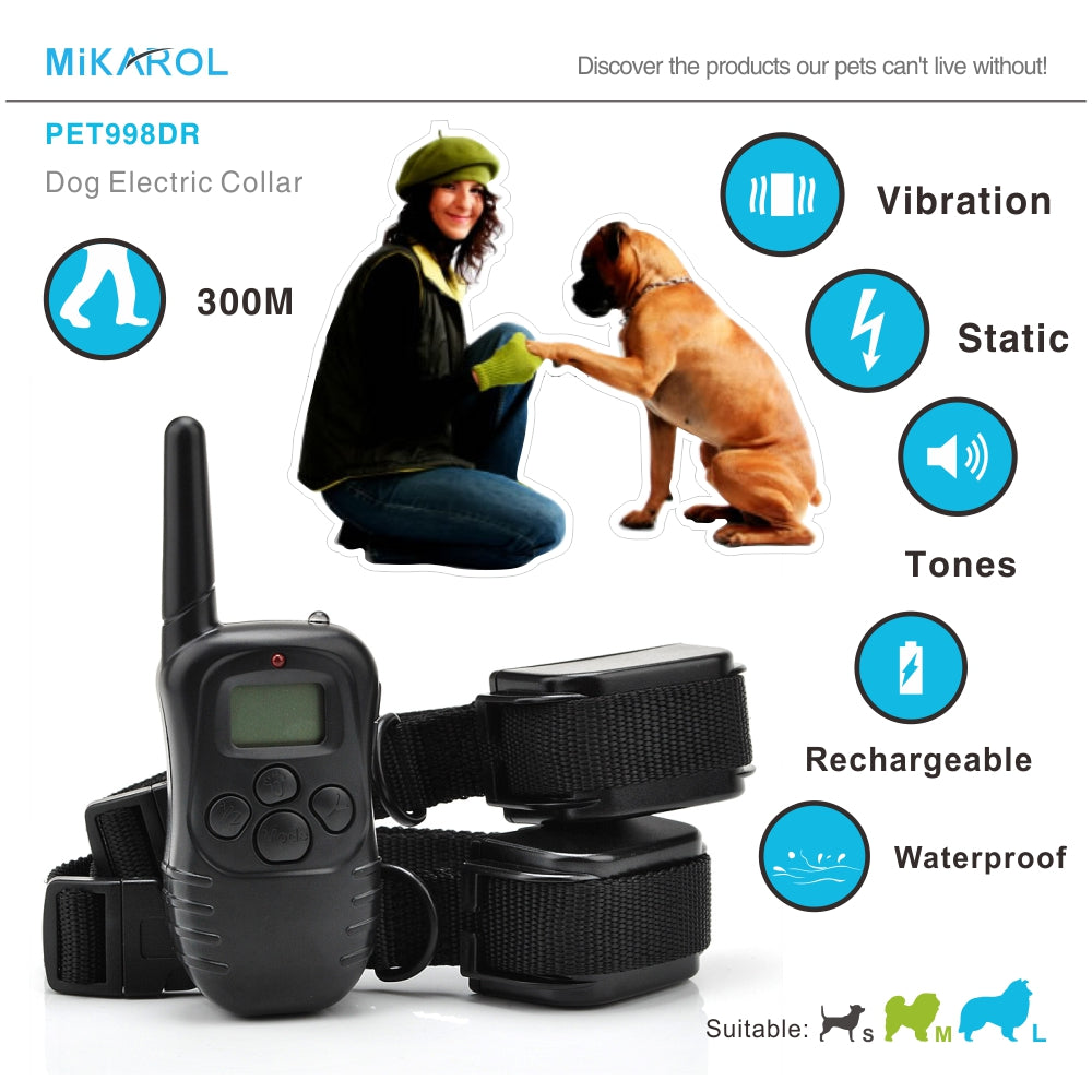 Dog collar barking stop pet training electronic anti bark control collar automatic for electronic dog collar waterproof