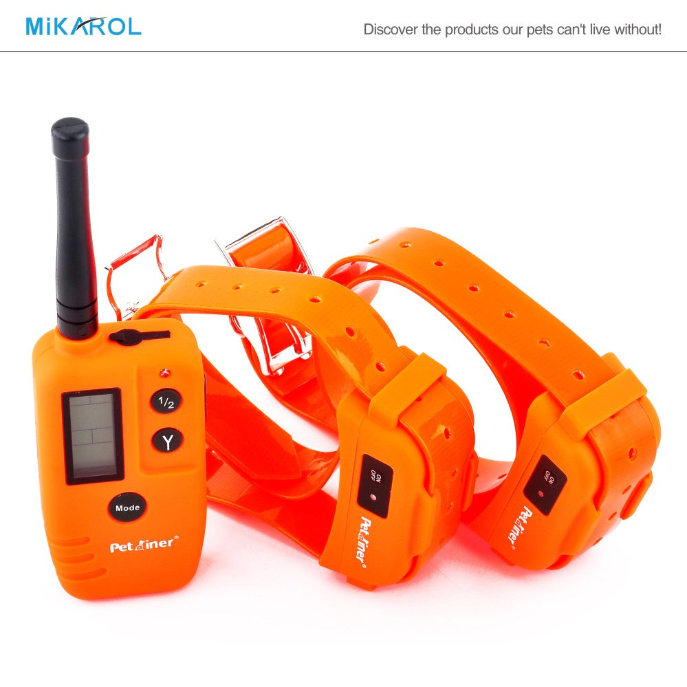 Dog electronic shock rechargeable waterproof dog training collar 500M remote bark control stop barking