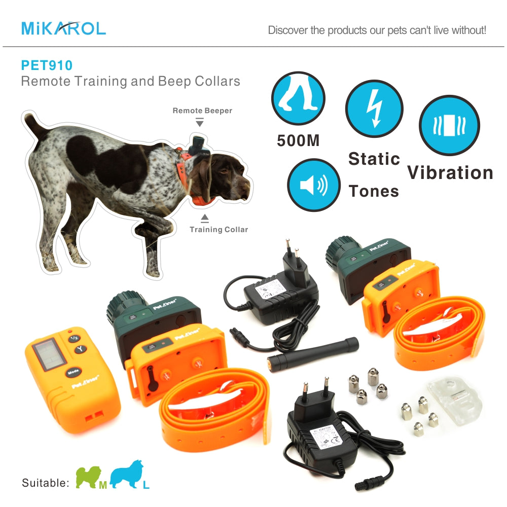 Dog training electric collar beeper for dog electronic bark collars anti bark control pet trainer collar 500M