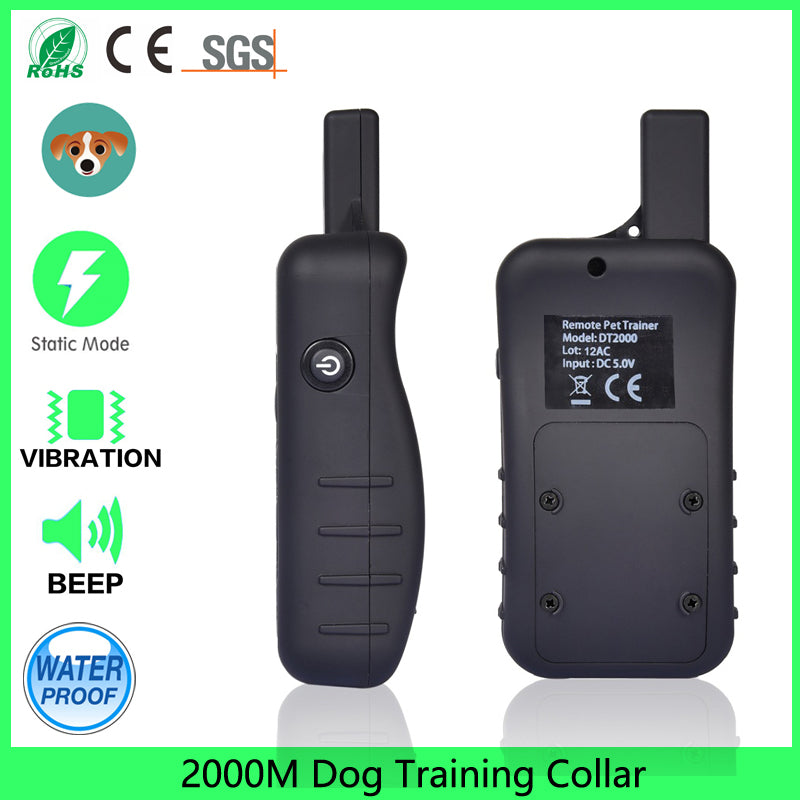 Dogs with Beep, Vibration and Electric Shock, 2000m dog training Collar Trainer for  Max.3 dogs(optional)