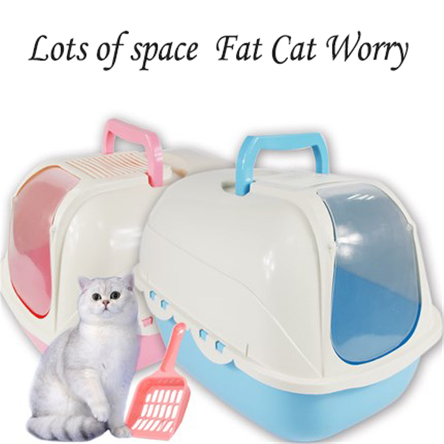 double enclosed large indoor bedpan cat litter box cofre gatos areia puppy toilet training cat. Black Bedroom Furniture Sets. Home Design Ideas