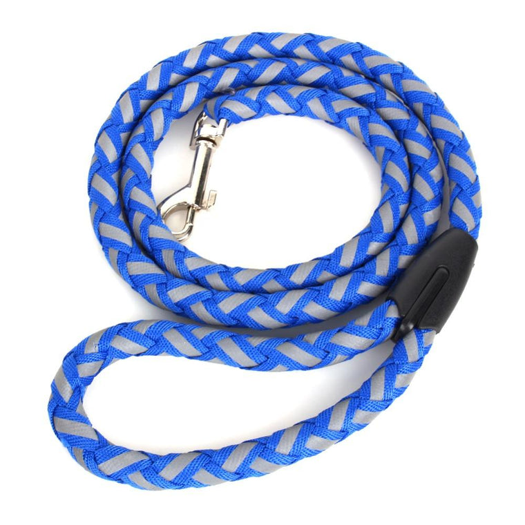 Durable Nylon Small Dog Puppy Cat Pet Collar Walking Leash Set Puppy Fluorescen Training Rope Leash Set with Reflective Strip
