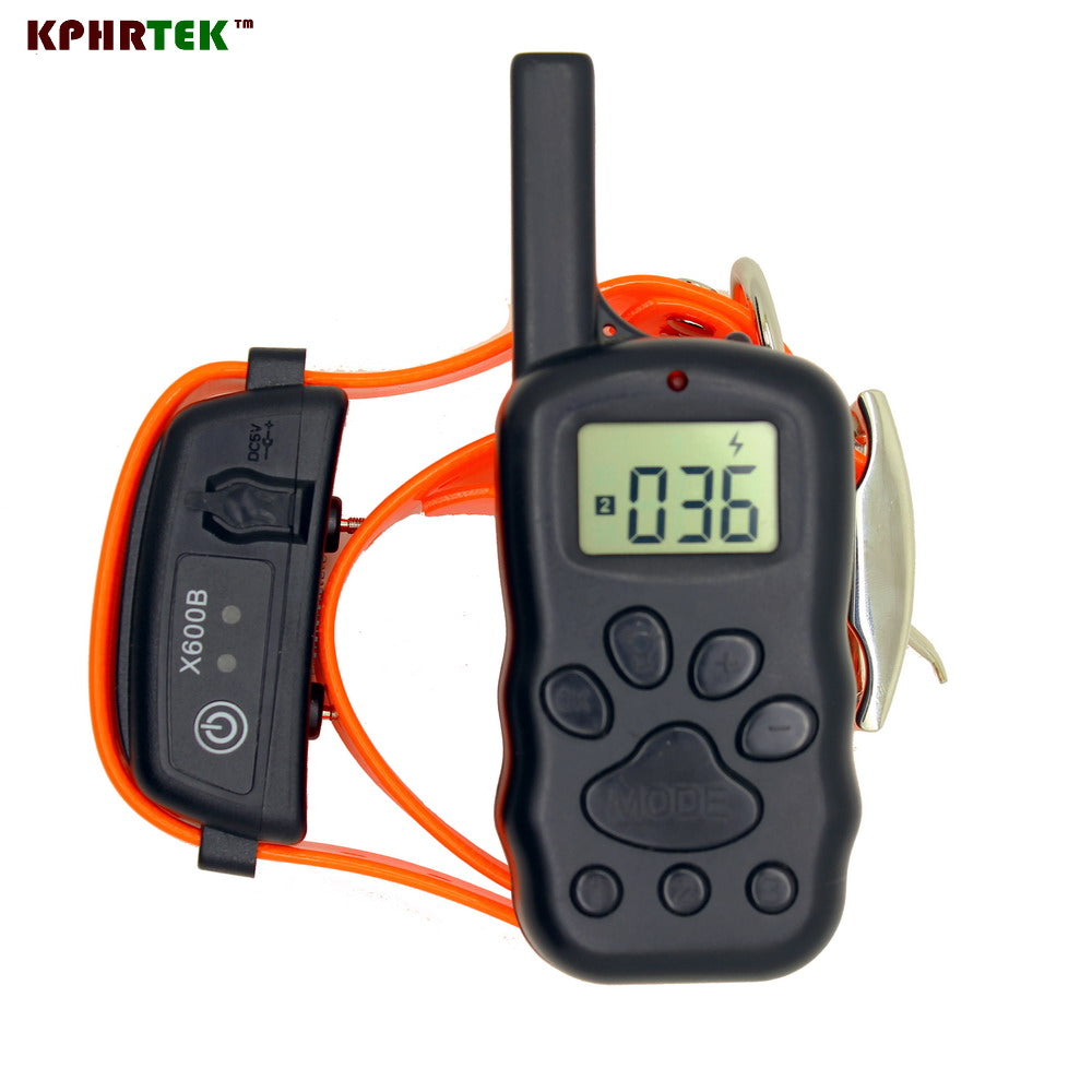 Electric Dog Training Collar Remote Control Vibra Shock Anti Bark Collar Rechargeable and Waterproof X600B Swiming Driving