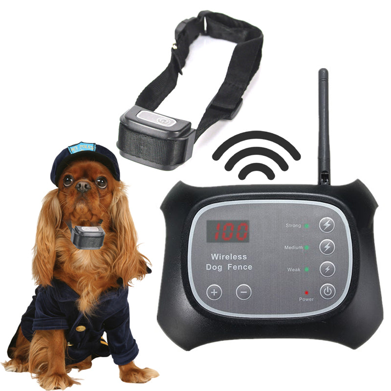 Electric Wireless Pet Fence System F-700 Waterproof Dog Training Shock Collar Device Rechargeable Remote Vibration Barking