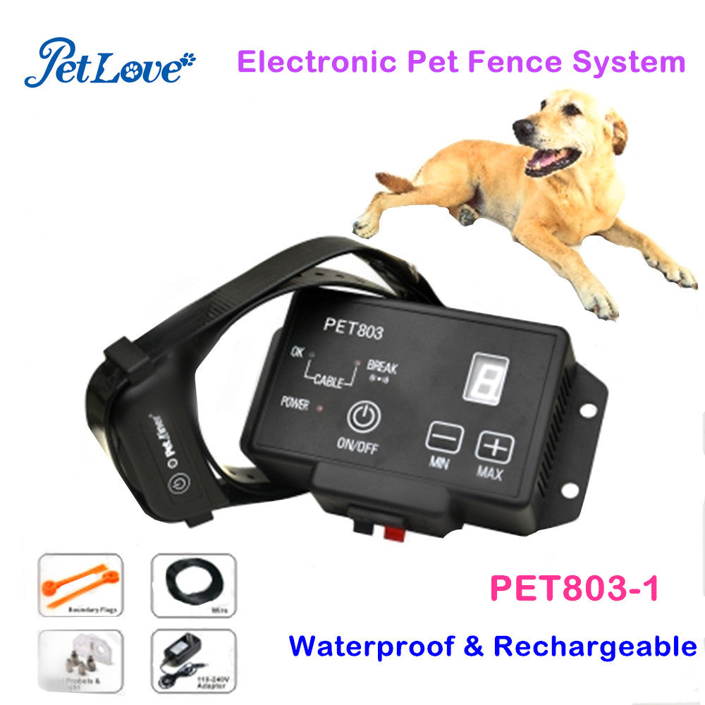 Electronic Pet Fencing System Dog Training Collars Remote Control Dog Electronic Fence Smart Dog Trainer Collar