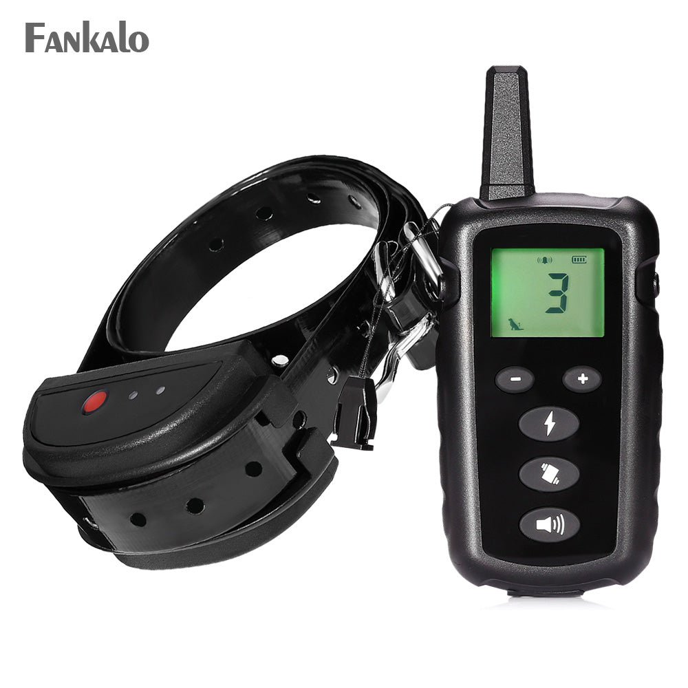 Fankalo 998DRN pets training collar 300M Remote Rechargeable Rainproof 16Levels Vibration Shock Electronic Dog Training Collar