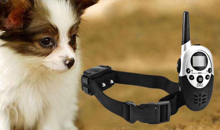 For ONE Dog Vibration Beep & electric shock remote 1000m Training collar rechargeble LCD display Dog trainer with self-sleep