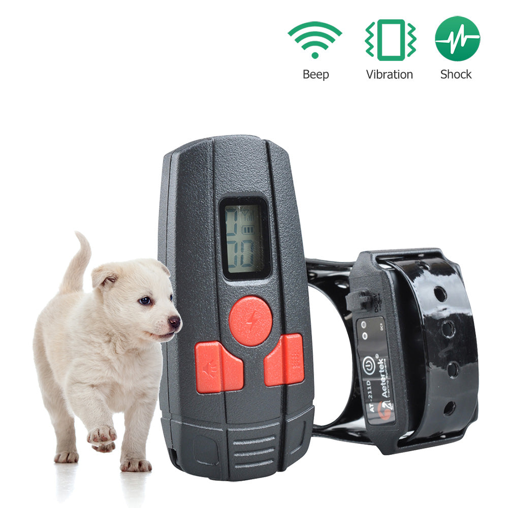 Free Shipping Aetertek At-211D Small Dog Shock Collar Rechargeable Dog Training Collar for Dog & Cat 10 Adjustable Level of Shock Correct