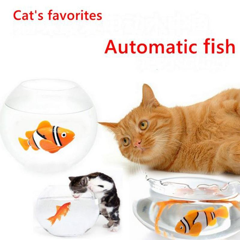Funny Cat Simulation Fish Toy Battery-Powered Fish Water Robot Cat Toys Water Activated Robo Fish Keep Your Cats Entertained