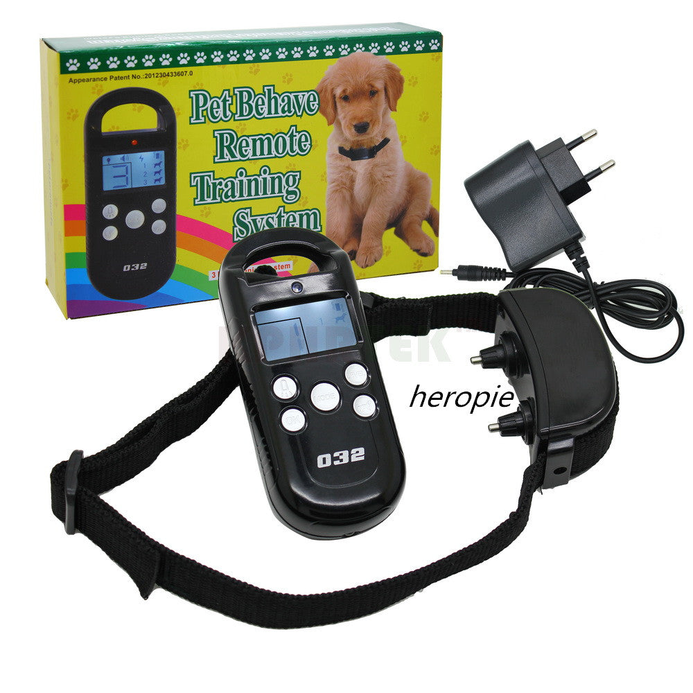 HEROPIE 300M LCD Dog Trainer Products Pet Dog Training Collar&Transmitter System Remote Control Electric with 4 Shock Levels