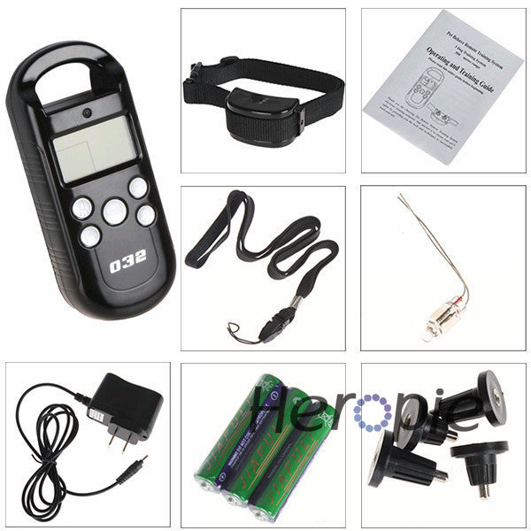 HEROPIE LCD Remote Control 3 300M Pet Dog Training Collar & Transmitter System Electric Dog Trainer Products with 4 Shock Levels