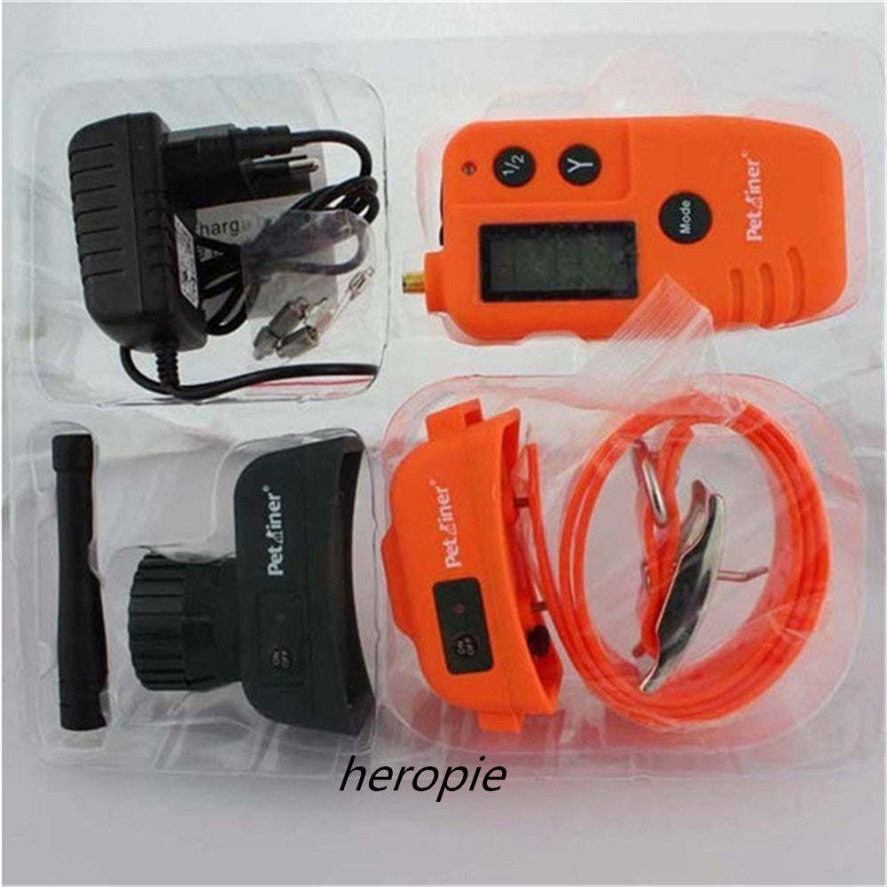 HOT Rechargeable Waterproof Hunting Electric Dog Training Collar With LCD Display 500M Range Remote Manual Control Pet Collar