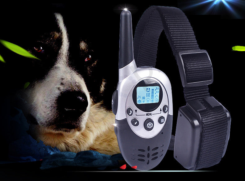 Heropie 1100M Pet Dog Training Collar Dog Trainer Remote Control Rechargeable Shock Dog Necklace with LCD Display Anti Bark
