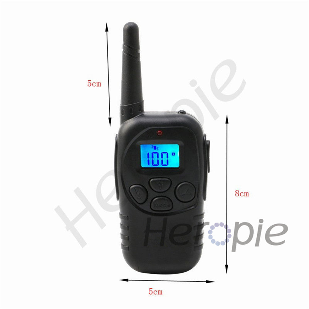 Heropie 300M Dog Pet Training Collar Rechargeable Waterproof LCD 100LV Remote Shock Vibrate Bark Stop Collar For 1 Dog