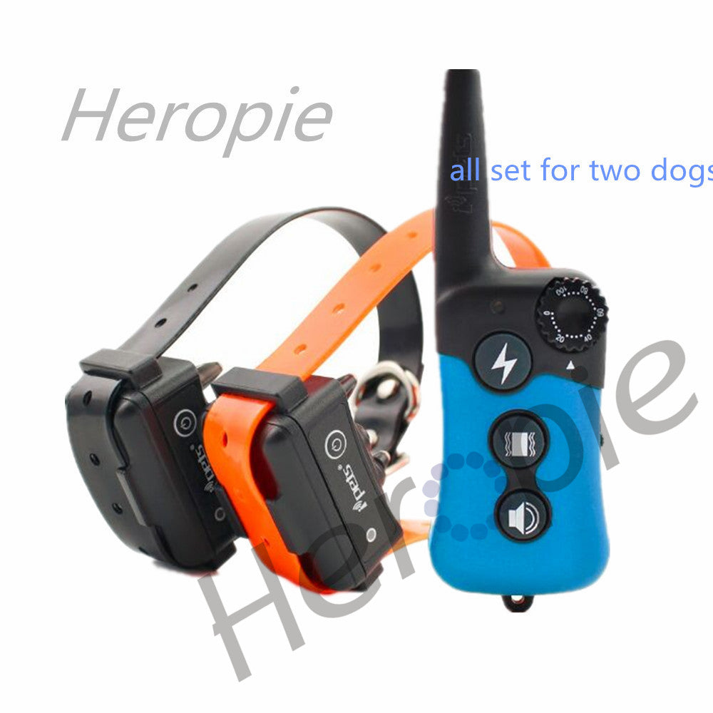 Heropie 300m Remote Training Collar Electric Dog Training Collar Large Dog Training Collars Bark Dog Collar for Two Dogs