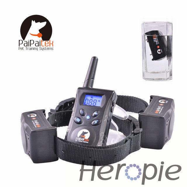 Heropie 500M Rechargeable Diving Swimming Waterproof Blueback light Shock Vibra Remote Control Electric Dog Training Collar