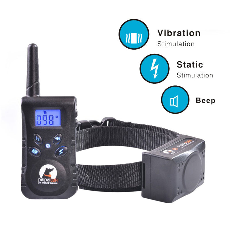 Heropie 500M Rechargeable and Remote Control Waterproof Pet Dog Training Device Dog Training Collar Shock Collar Beep Shock