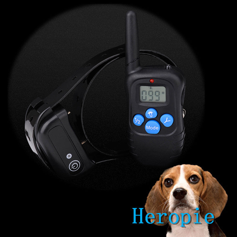 Heropie Charging waterproof remote control dog stop electric shock small medium large dog LCD Electric Pet Dog Training Collar