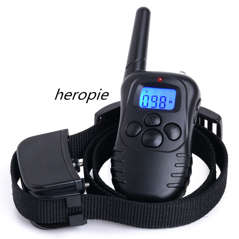 Heropie Dog Trainer 300M Waterproof Rechargeable LCD Remote Pet Cat Dog Training Collar Electric Shock Large Dog Control Hot